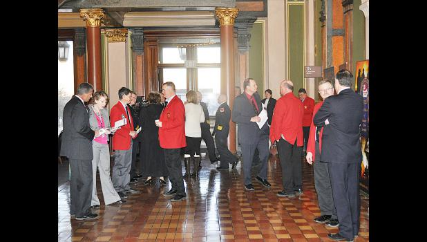 The IFA will sponsor a Legislative breakfast on Jan. 27 at Room 116 of the Capitol building in Des Moines. This photo was taken at last year's breakfast.