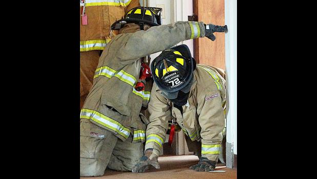 A scene from training at last year's fire school.