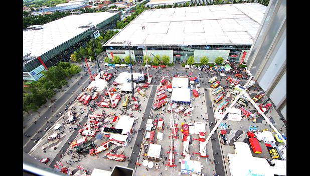 These were just a few of the outside displays at Interschutz taken from about 200 feet in the air.